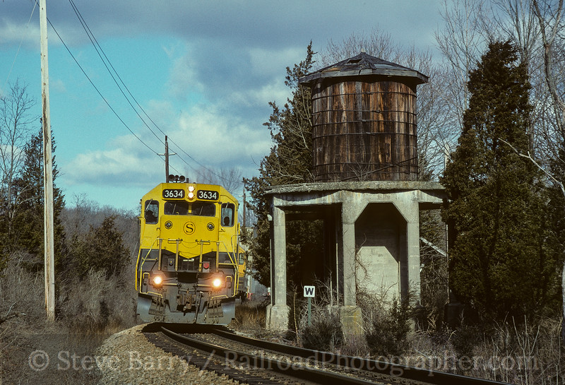 Photo 3599<br /> New York, Susquehanna & Western; Sparta, New Jersey<br /> March 7, 1997