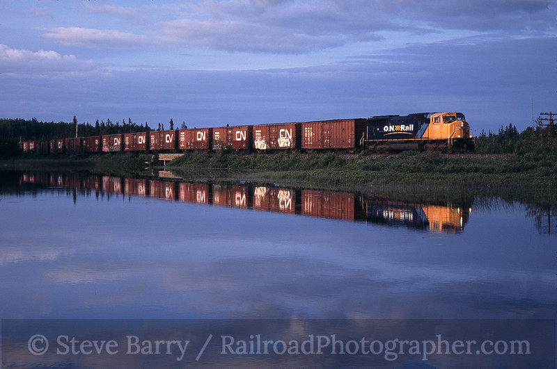 Photo 0438<br /> ON Rail; White Clay Creek, Ramore, Ontario<br /> July 14, 2004