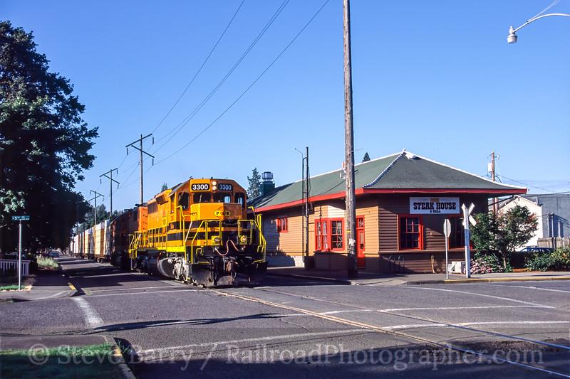 Photo 1055<br /> Portland & Western; Junction City, Oregon<br /> July 2005