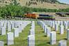 Photo 3843<br /> Rapid City, Pierre & Eastern; Black Hills National Cemetery, Sturgis, South Dakota<br /> July 7, 2016
