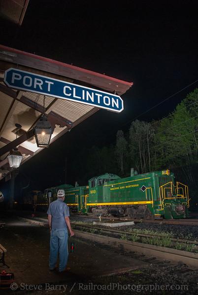 Photo 2562<br /> Reading, Blue Mountain & Northern; Port Clinton, Pennsylvania<br /> May 5, 2012