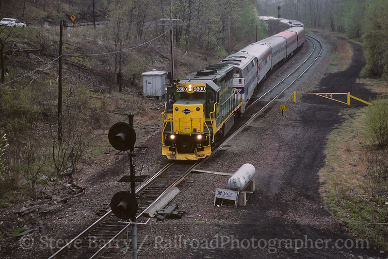 Photo 4154<br /> Reading, Blue Mountain & Northern; Solomons Gap, Pennsylvania<br /> May 1999