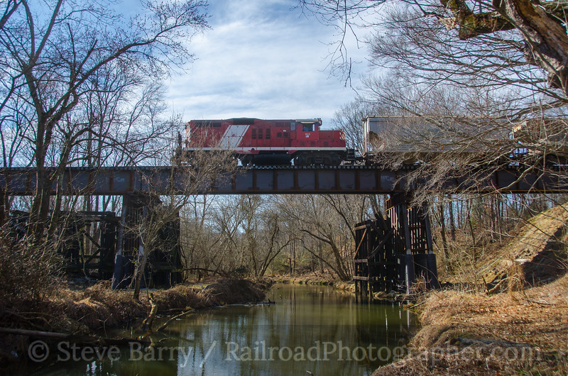 Photo 4041<br /> Southern Railroad of New Jersey; Woodstown, New Jersey<br /> February 23, 2017