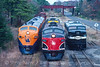Photo 3555<br /> Southern Railroad of New Jersey; Winslow Junction, New Jersey<br /> November 5, 1994
