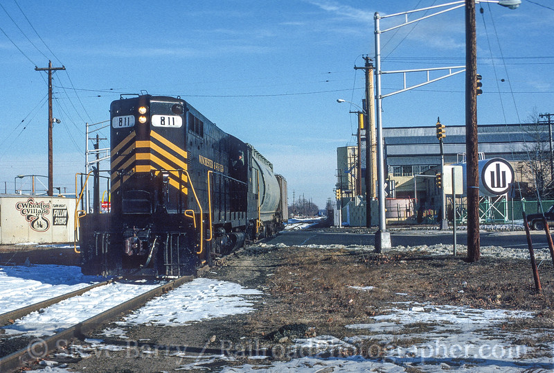 Photo 3554<br /> Winchester & Western; Millville, New Jersey<br /> February 1987