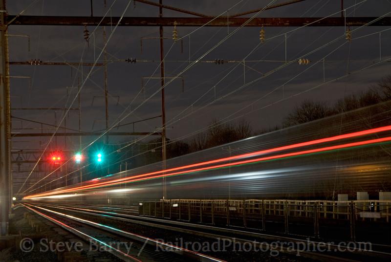 Photo 1729<br /> Amtrak<br /> Croydon, Pennsylvania<br /> November 29, 2009