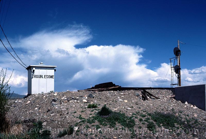 Photo 0250<br /> Denver & Rio Grande Western; Troublesome, Colorado<br /> May 1985