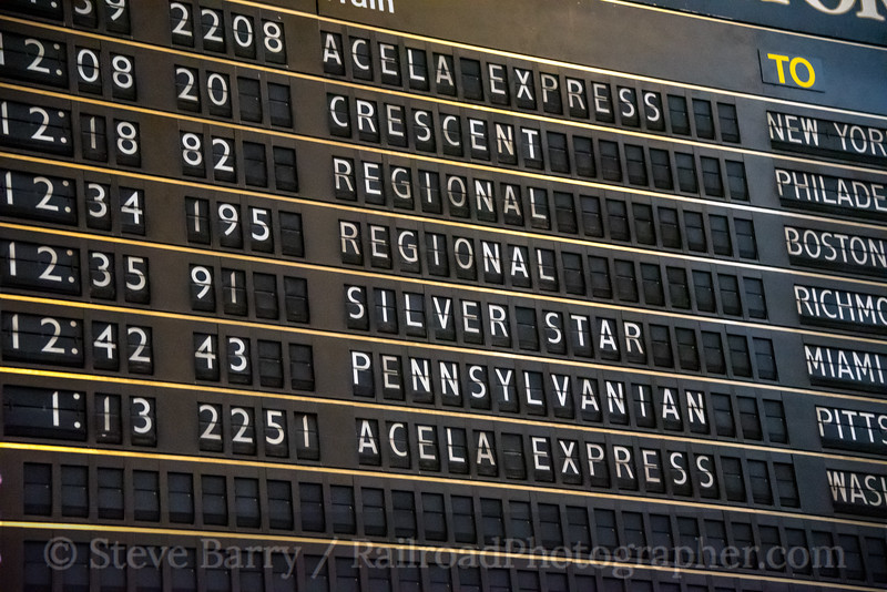 Photo 5434<br /> Amtrak<br /> 30th Street Station, Philadelphia, Pennsylvania<br /> January 5, 2019