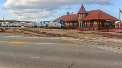 Passing the old Rock Island Lines station in Council Bluffs, IA.