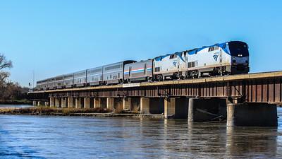 Amtrak #6 Platte River