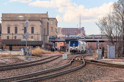 Amtrak #6 arrives Omaha, NE 13 hours late.