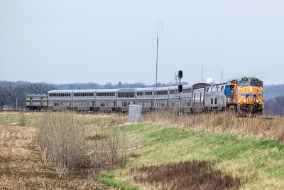 UP7774 with Amtrak #6 California Zephyr