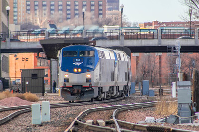 Amtrak #6 sits at Omaha, NE 13 hours late.