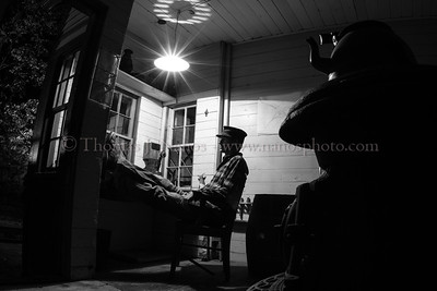 Station agent taking a break At the 9th Annual CT Eastern Railroad Museum night shoot in Willimantic, CT one of the poses was inside the Chaplin Station, depicting what could have happened sometime in history.