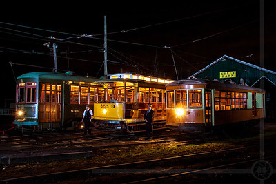 Trolleys at Night