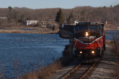 Train In Two Towns 2 Another view of the combined NR-2/NR-3 in Ledyard and Preston, CT