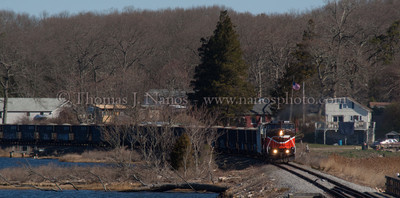 NR-2/NR-3 through Happyland The combined Providence & Worcester trains NR-2 and NR-3 head south through the Happyland section of Preston, CT