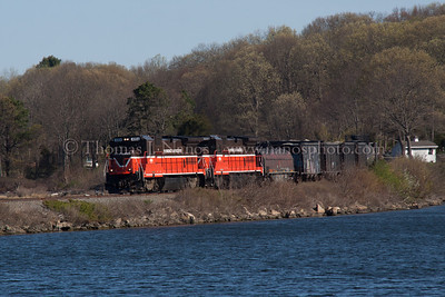 At Mill Cove P&W NR-2 appears at the top of Mill Cove in Gales Ferry, CT