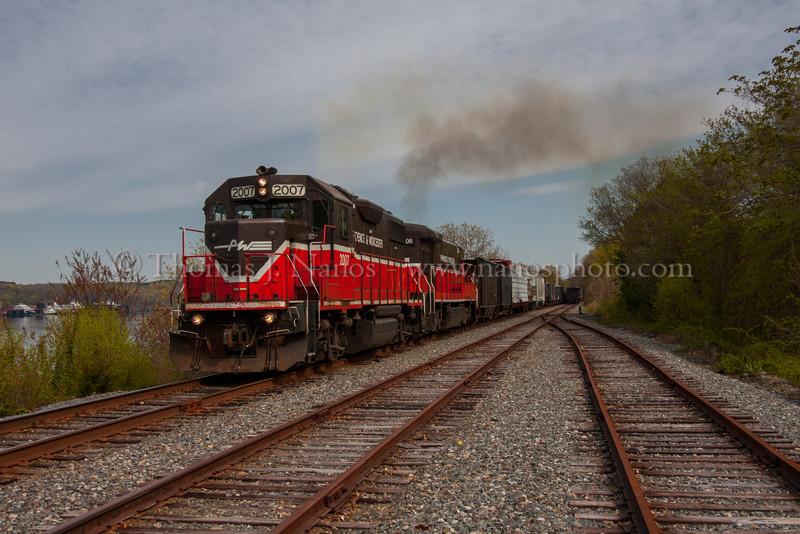 NR-2 through Fairview P&W NR-2 pulls south through Fairview Yard in Groton, CT