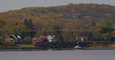 Along the Thames The tail end of P&W NR-2 skirts along the Thames River in Ledyard, CT