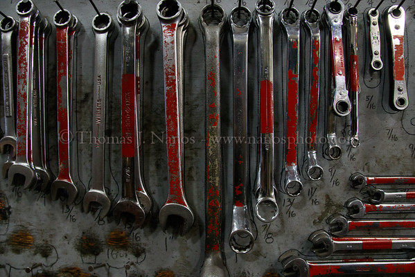 A closeup of some wrenches