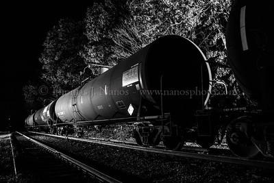 A look at one of the ethanol tank cars in Baltic, Connecticut