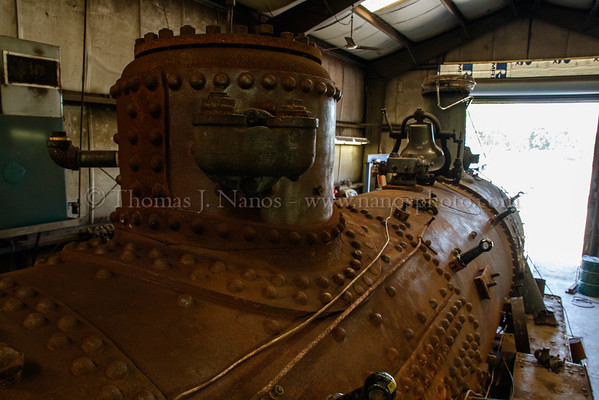 A view of 97s boiler with her jacket and insulation removed