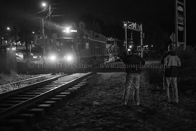 Nighttime Train Watching