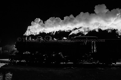 Valley Railroad Mikado No. 3025 hauls a North Pole Express through Chester, CT