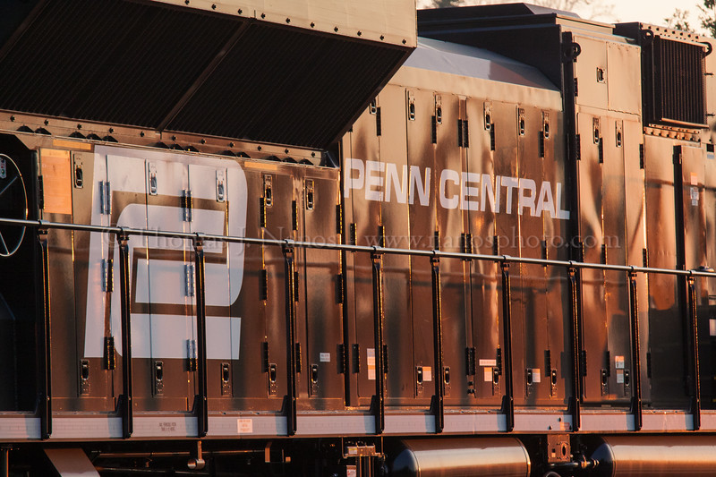 Penn Central detail<br /> A detailed look at the Norfolk Southern Penn Central heritage unit at Manville, NJ