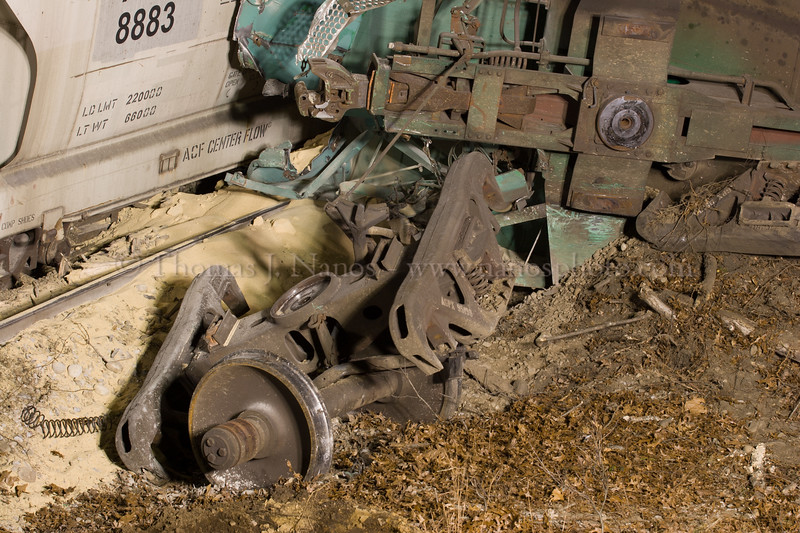 Steel Salad<br /> A small portion of a derailment on the New England Central Railroad in Mansfield, CT in December 2006.