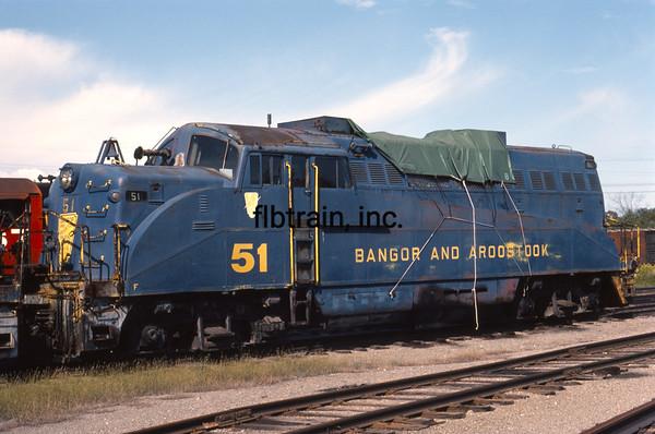 BAR1982090115 - Bangor & Aroostock, Bangor, ME, 9-1982