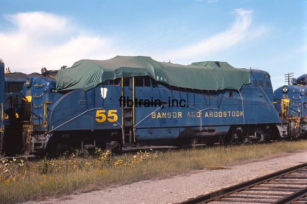 BAR1982090113 - Bangor & Aroostock, Bangor, ME, 9-1982