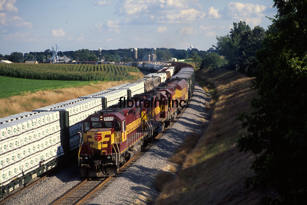 WC2000080157 - Wisconsin Central, Byron Hill, WI, 8-2000