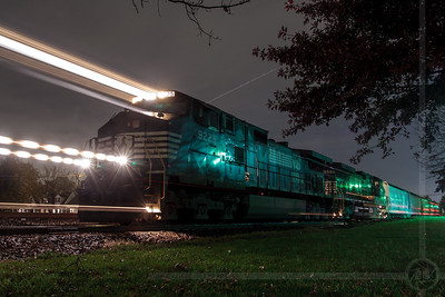 Pulling out of Manville - A Norfolk Southern train pulls out of Manville, NJ on the Royce Runner, which is a portion of Conrail's Lehigh Line.  November 4, 2008