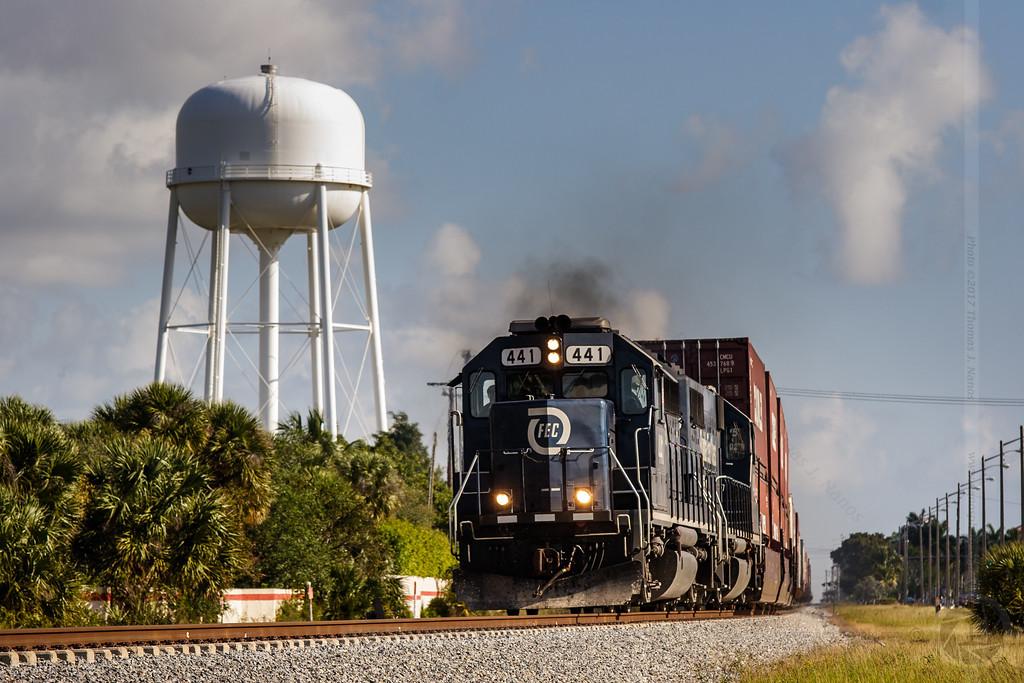 FEC southbound through Boca Raton, FL