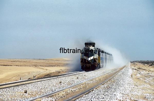 SRO1985020001 - Saudi Railways Organization, Desert, Saudi Arabia, 2/1985