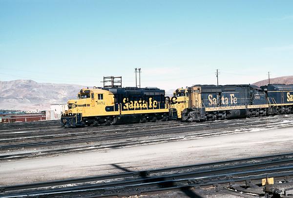 SF1973090404 - Santa Fe, Barstow Shops, CA, 9/1973