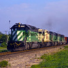 SF1990080303 - Santa Fe, Burlington Northern, Bellville, TX, 8/1990