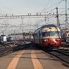 Trans Europe Express arrives in Zurich.  Swiss Railways, Switzerland, 8/4/1986.