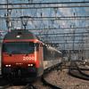 Swiss Railways eastbound Intercity to Bregenz.  Sargans, Switzerland, 4/25/1998.