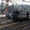 Swiss Railways trains in Zurich, Switzerland.  8/3/1986
