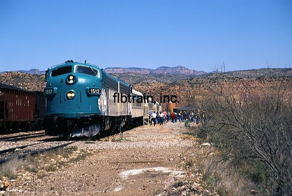 VCR1999040038 - Verde Canyon RR, Clarkdale, AZ, 4/1999