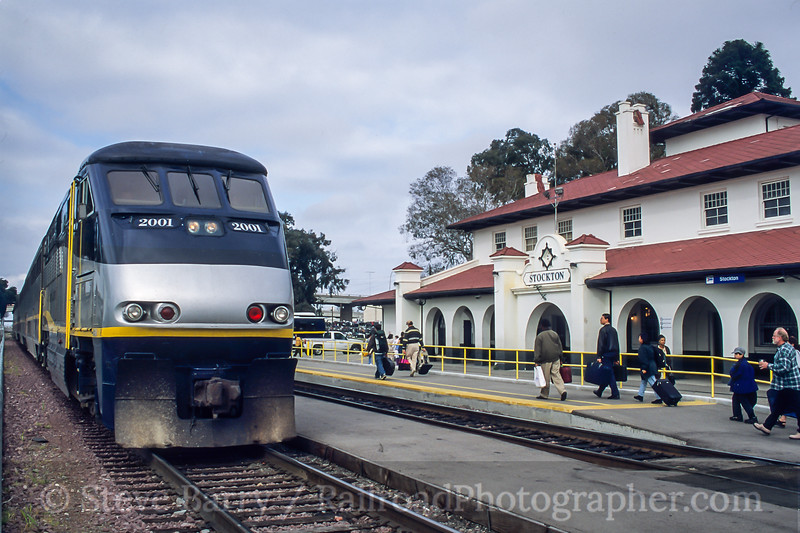 Amtrak; Stockton CA; 3/2000
