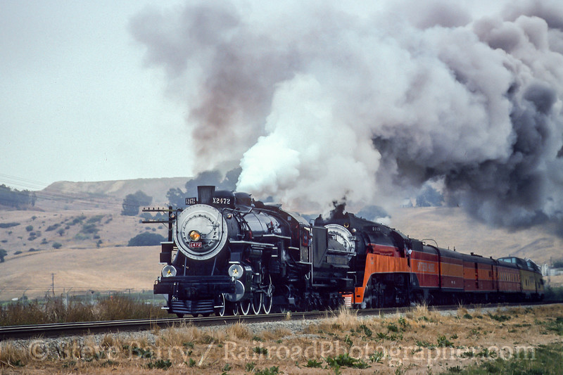 Southern Pacific 2472 and 4449; Aromas CA; 7/26/92