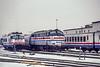Photo 5545<br /> Amtrak<br /> Rensselaer, New York<br /> December 1991