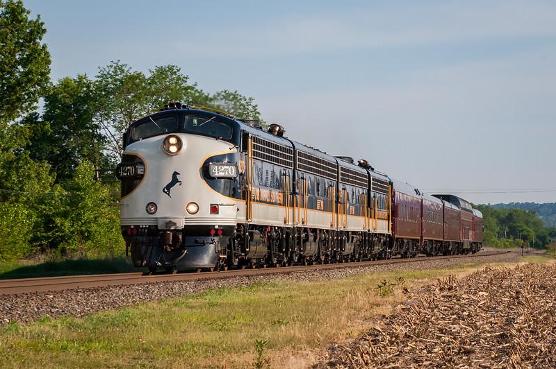 A northbound NS OCS passes through Montandon, Pennsylvania on May 20, 2010.
