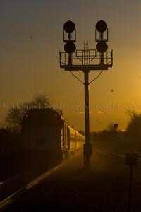 Sunrise Express A New Jersey Transit express blasts through Bound Brook, NJ on their way to Newark Penn Station