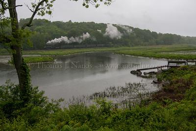 Runby in the rain at Pratt Cove in Deep River