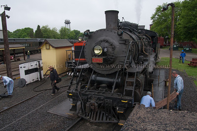 Lerro Productions Valley RR Charter May 2012 Preparing 3025 for the day